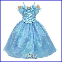 Disney Store CINDERELLA Limited Edition Costume Dress Flower Girl Size 5,6,8,10