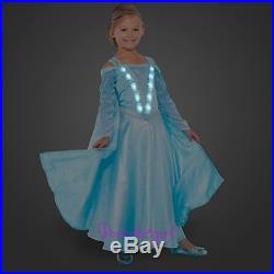 Disney Store Deluxe Light Up Costume Elsa Frozen Princess Dress Gown Size 5
