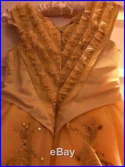 Disney Store Deluxe Limited Edition Belle Dress & Bag Size 8 Years Cost £200