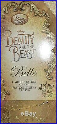 Disney Store Deluxe Limited Edition Belle Dress & Bag, age 5