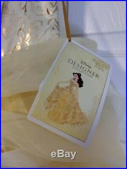 Disney Store Designer Collection Princess Dress Up Premium Girls 9/10 Belle NWT