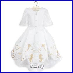 Disney Store Designer Princess Ariel Wedding Gown Dress Deluxe Costume 3 New