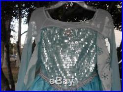 Disney Store Elsa Deluxe princess Costume for Girls Frozen new size 5/6 FANCY