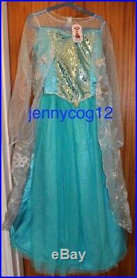 Disney Store Exclusive Frozen Elsa Snow Queen Costume Dress 11-12 yrs BNWT