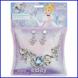 Disney Store Girls 7 8 Costumes Lot Cinderella Belle Aurora Accessories New