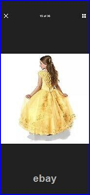 Disney Store Limited Edition Deluxe Belle Dress Age 9-10 Beauty And The Beast