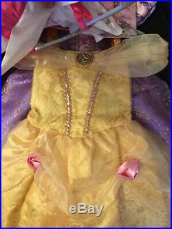 Disney Store Princess Dress Up Costume 8 Piece Wardrobe Set Age 3 Years NEW
