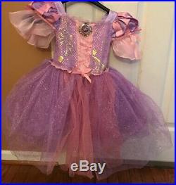 Disney Store Princess Girls Halloween Costume Rapunzel Dress Size 3