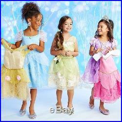 Disney Store Princess Wardrobe Costume Dress Set of 5 Girls Belle Aurora 7/8