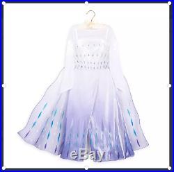 Disney Store Snow Queen Elsa Deluxe Costume for Kids Size 7/8 Frozen 2