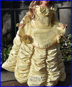 Disney Store Theatrical Deluxe Belle Dress Costume. Size 4 NWT FREE SHIPPING