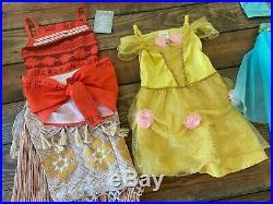 Disney Store princess dress lot (10) size 4