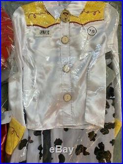Disney Toy Story Jessie Jesse Cowgirl Halloween Costume Complete Set Sz 7-8 NWT