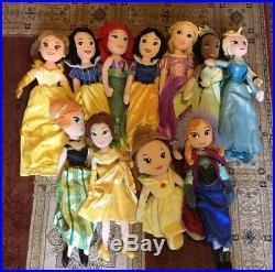 Disney job lot bundle Princess dresses Soft plush dolls, Accessories & play shoes