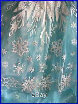 ELSACOSTUME DRESS + SILVER RhinestoneTIARASnow QueenFrozenNWTDisney Store