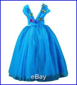 ELSA & ANNA Principessa Costume Vestito 5-6 anni Bambine Abito Girls New