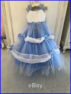 Exc Disney Bibbidi Harrods Boutique Cinderella Fancy Dress Age 5-6 Huge Amazing