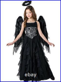 Fallen Dark Death Angel Girl's Costume X-Large 12