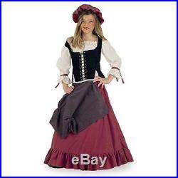 Fancy Dress Medieval Wench Maiden Costume Girls 9/11 Jahre by Elbenwald