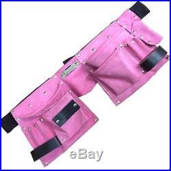 Fancy dress Pink Leather tool belt for hen nights builder pink belt outfit girls