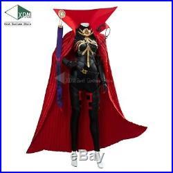 Fate/Grand Order FGO Demon Oda Nobunaga Nobu Cosplay Costume Jumpsuit Red Cape