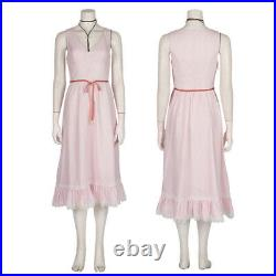 Final Fantasy VII Remake Aerith Cosplay Women Costume Girl Coat Dress FF7 Outfit
