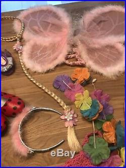 GLTC Pink Girls Fancy Dress Up Clothes Rail Ariel Belle Cinderella 14 ITEMS 5 /8