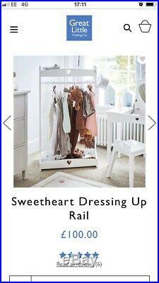 GLTC Pink Girls Fancy Dress Up Clothes Rail Ariel Belle Cinderella 14 ITEMS 5-8y