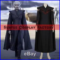 Game of Thrones Season 7 Costume Daenerys Targaryen Dress Halloween Cosplay