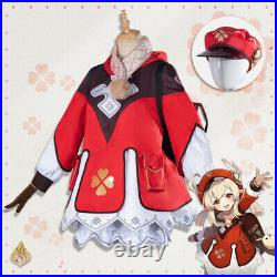 Genshin Impact Klee Cosplay Costume Girls Dress Backpack Women Anime Game Outfit
