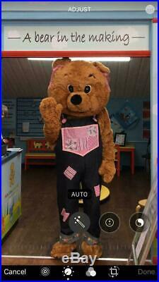 Girl Teddy Bear Mascot Costume, Fursuit, Fancy Dress. Free UK Delivery