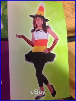 Girls 12-14yrs Fancy Dress outfit Candy Corn charmer Glam Witch Traffic Cone R4