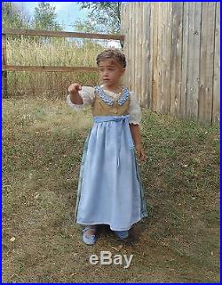 Girls 4-5 Folk Christmas Rustic historical Dress costume Gretel sound of music 4