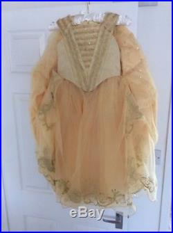 Girls Disney Store Deluxe Limited Edition Belle Dress Age 6 New £200 Beauty 5-6