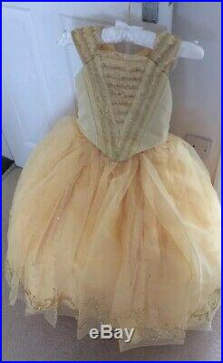 Girls Disney Store Deluxe Limited Edition Belle Dress Age 6 New Beauty 5-6