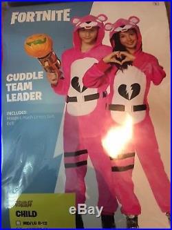 Girls Fortnite CUDDLE TEAM LEADER Plush Halloween Costume Large/X-Large 12-16