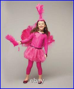 Girls Size 10 Pink Flamingo Chasing Fireflies Costume Dress Headpiece Leggings