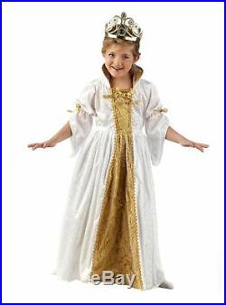 Goldene Prinzessin Kinderkostüm Karneval Fasching