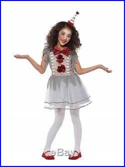 Graues Clown Kleid Kinder Kostüm Größe L Mädchen Karneval 49825