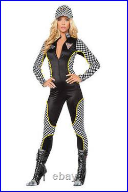 Grid Girl Suit Overalls Pit Babe Costume S/M M/L Race Car Driver Made IN USA