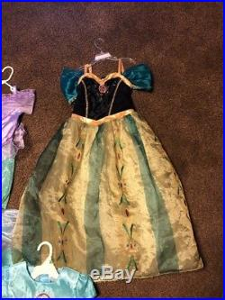 HUGE Lot Costumes Girls Deluxe princess Aurora Elsa Disney Dress Up 7 8 9 10