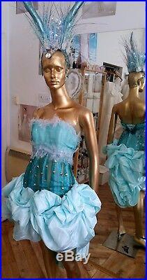 Handmade Unique Costume Satin Dress Frozen Style Sensual Princess One of Kind