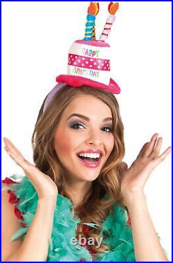 Happy Birthday Hat Headband Fancy Dress Celebration Adults Girls Tiara Accessory