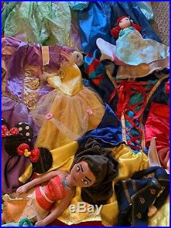 Huge Disney Princess Costume Dress Up Lot With Extras