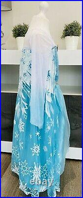 JOB LOT 60 x Girl's Blue Princess Dress/Costume/Dress up with Princes Elsa Badge