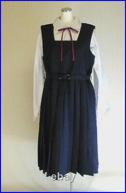 Japanese Real Uniform Girl JK Student School Cosplay Costume Janska + blouse set