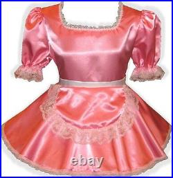 Jennifer CUSTOM FIT Satin Maid Apron Adult Little Girl Sissy Dress LEANNE