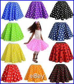 Job lot Wholesale Dance 50's fancy dress children skirts Polka Dot Rock n Roll