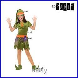 Karnevalskostüm Mädchen Kobold grün Faschingskos Größe 7-9 Jahre