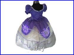 Kids Halloween Costume Girl Sofia First Princess Dress Cosplay light up led xv